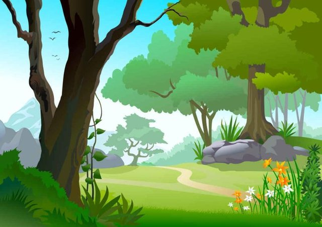 Design of picture images. Forest clipart cartoon