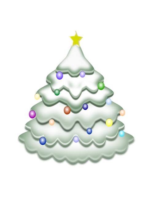 Christmas tree free holiday. Winter clipart decoration