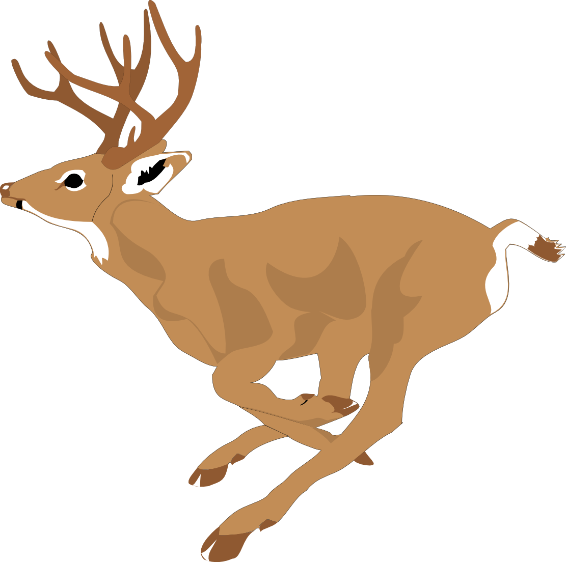 Forest pencil and in. Hunting clipart deer bust