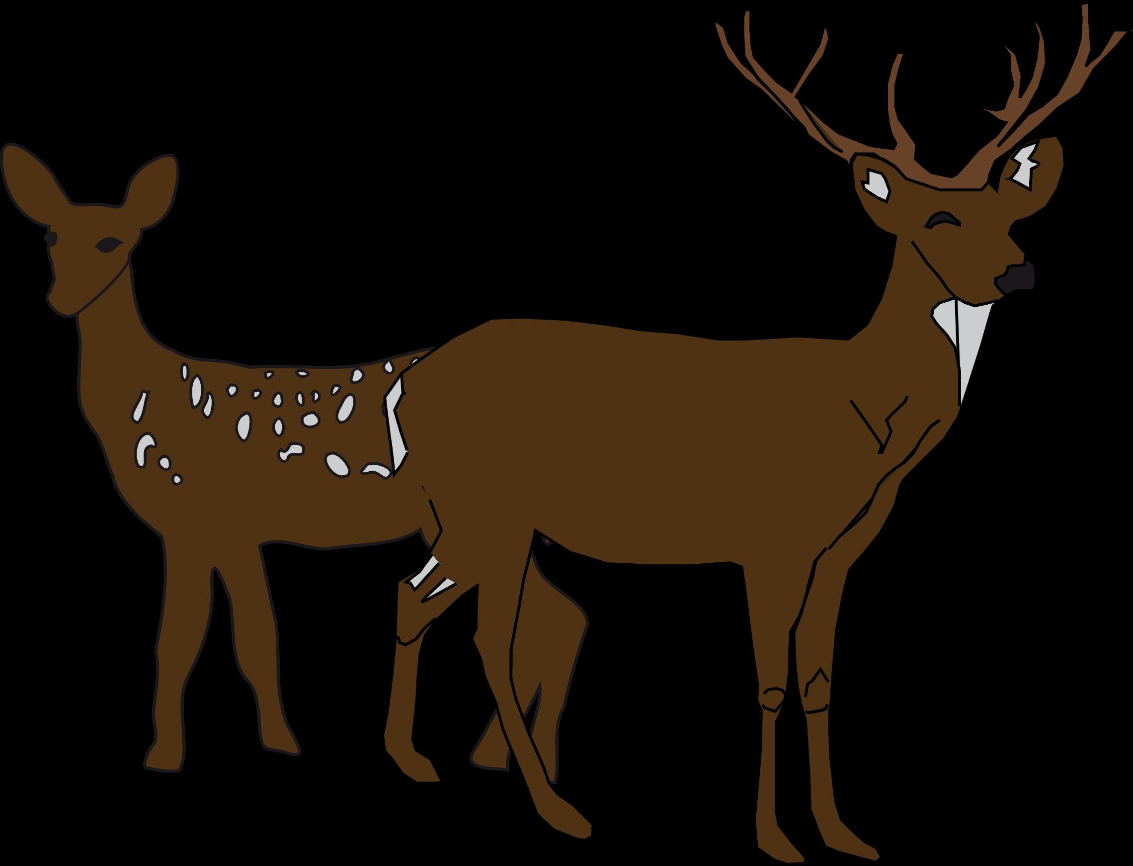 Elk clipart scene. Deer remix big image