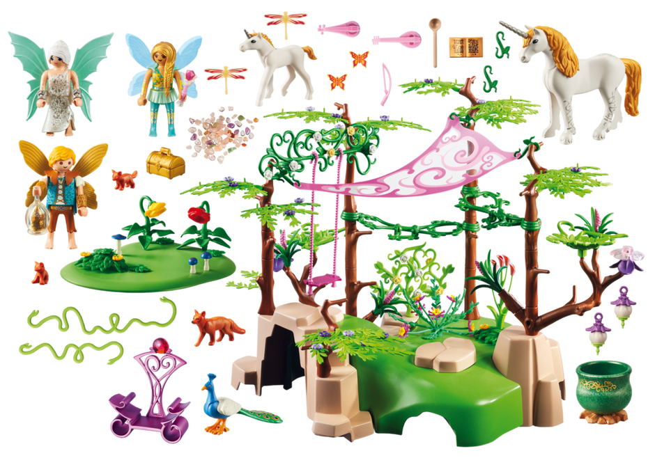 Clipart forest enchanted forest. Magical fairy playmobil usa