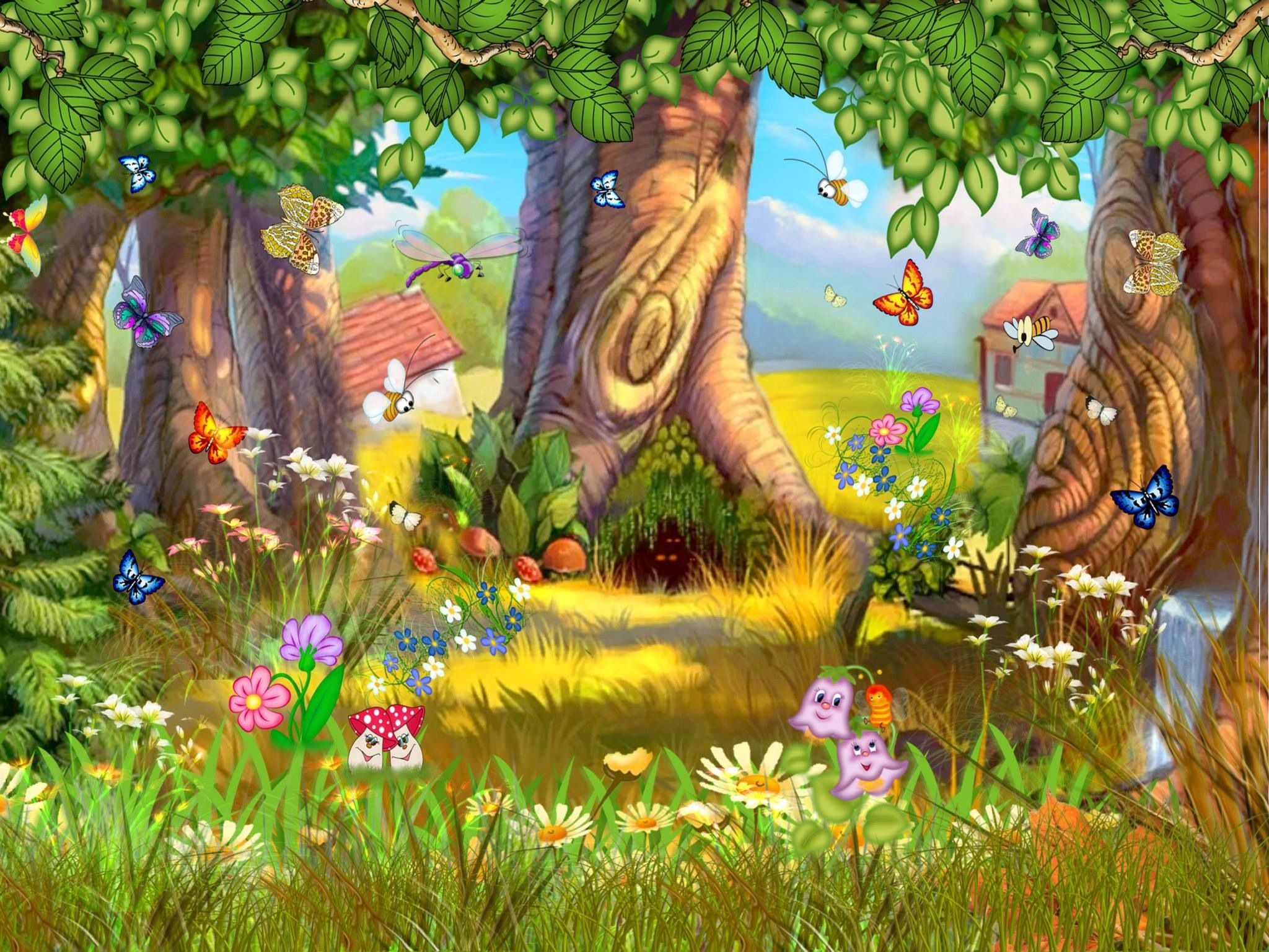 Pin by heather roberts. Fairytale clipart scenery