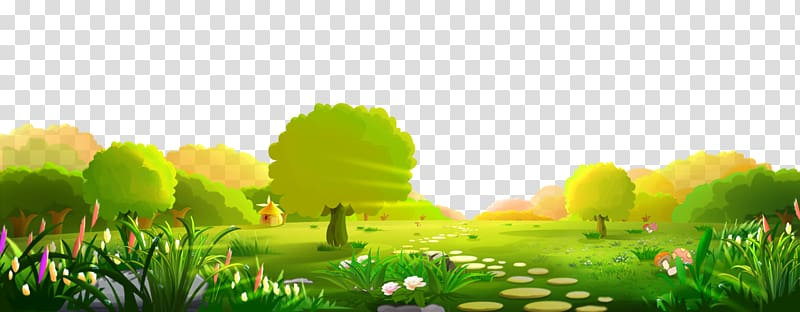 Play yard with trees. Clipart forest file