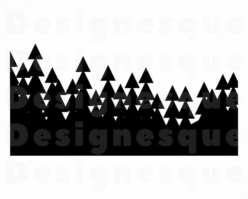 Clipart forest file. Svg files for cricut