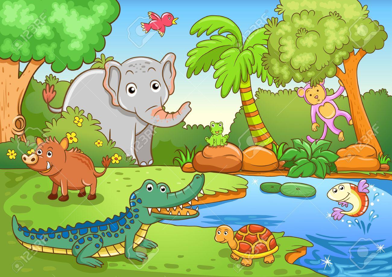 Rainforest clipart rainforest habitat. Free forest cliparts download