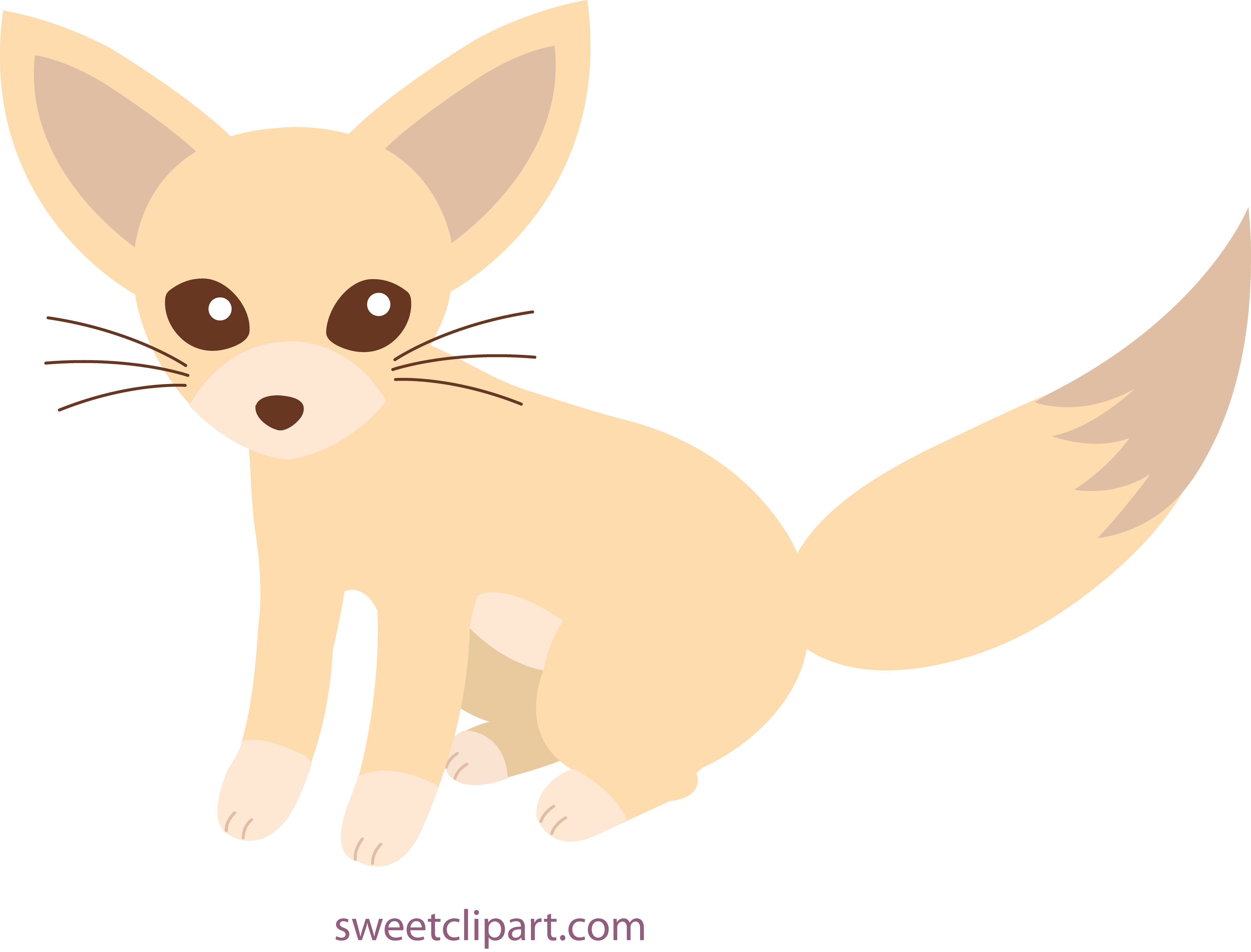 Fennec pencil and in. Clipart fox cute