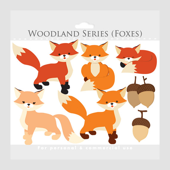 Woodland clipart standing. Fox whimsical foxes clip