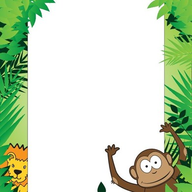 Jungle clipart borders. Free forest frame cliparts