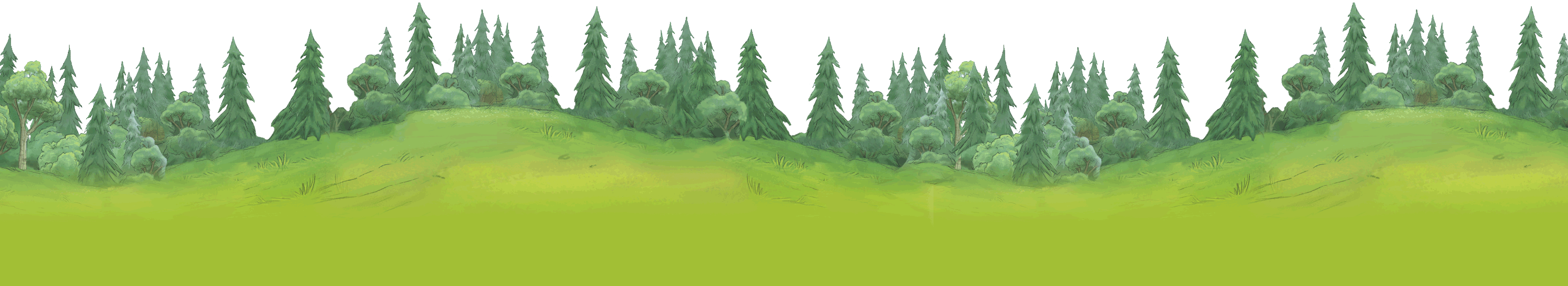 Wiley and friends free. Landscape clipart forest