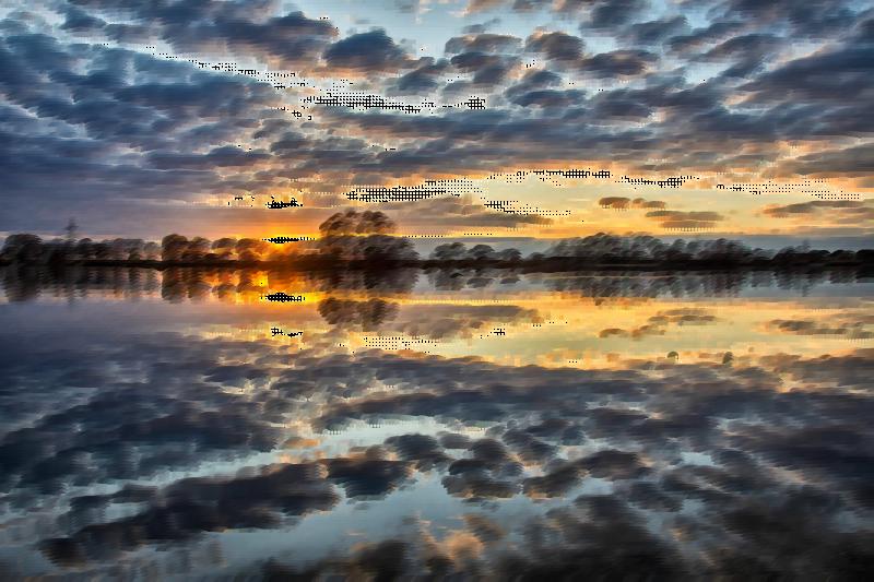 Surreal stormy sky medium. Lake clipart lake sunset
