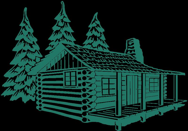 House clipart forest. Cabin hebrews for plotter