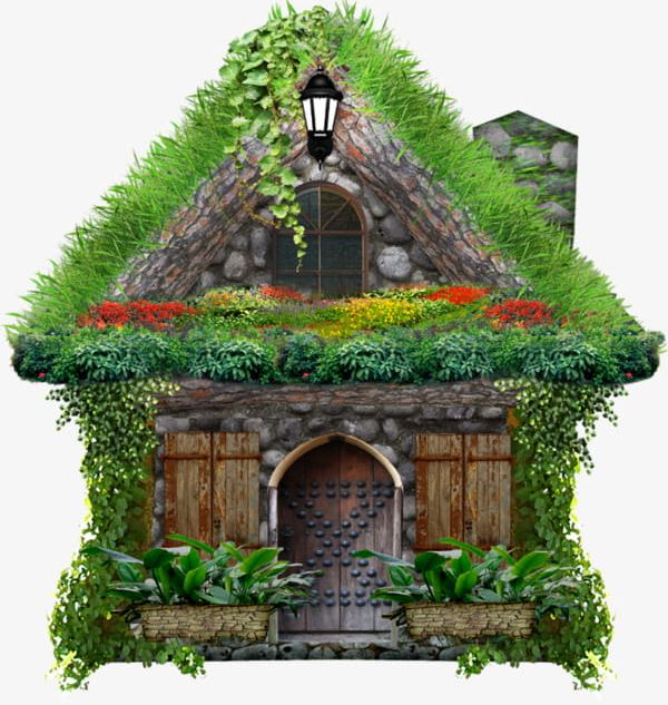 Png grass house . Hut clipart forest