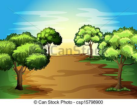 Land clipart forest way. The illustration panda free