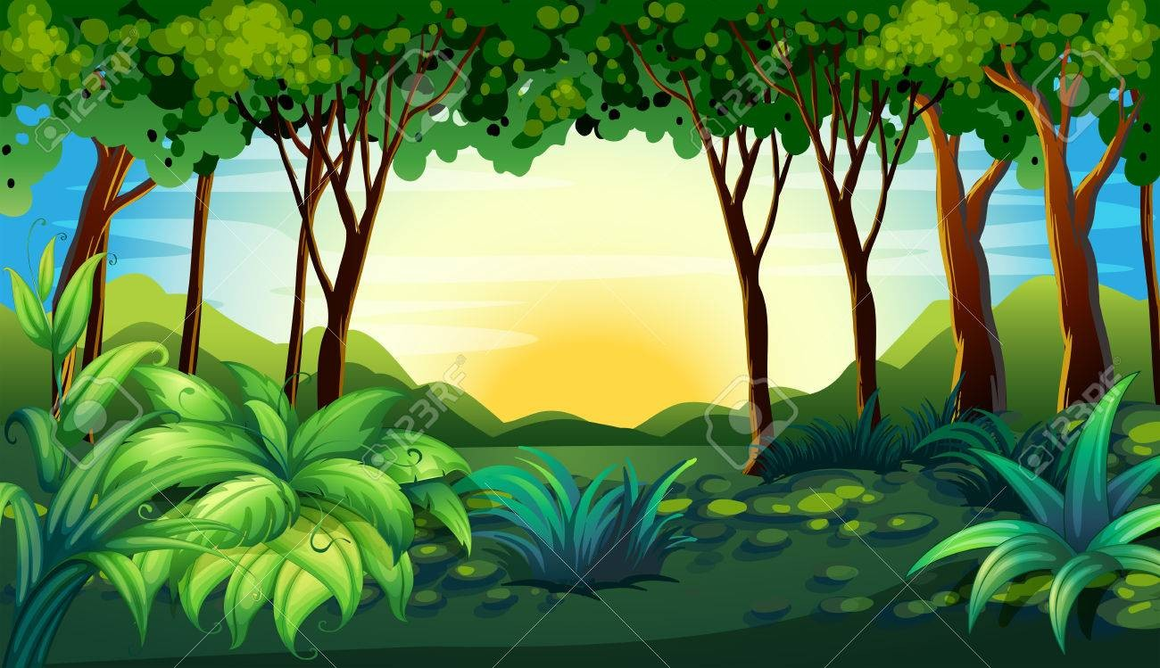 Jungle clipart forest, Jungle forest Transparent FREE for ...