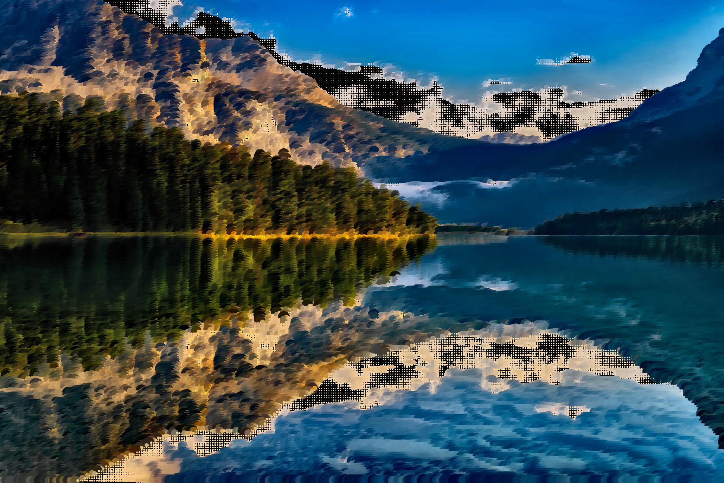Surreal canadian big image. Water clipart lake