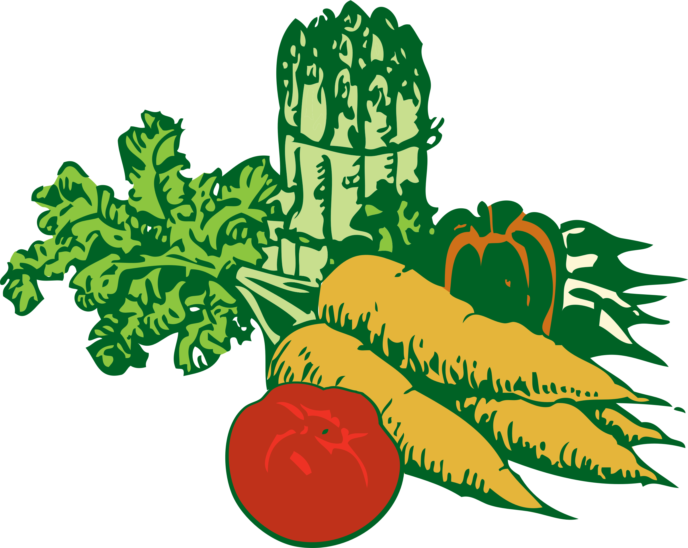 Veggies open clip art. Vegetables clipart fair
