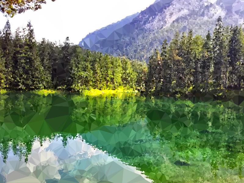 Lake natural environment