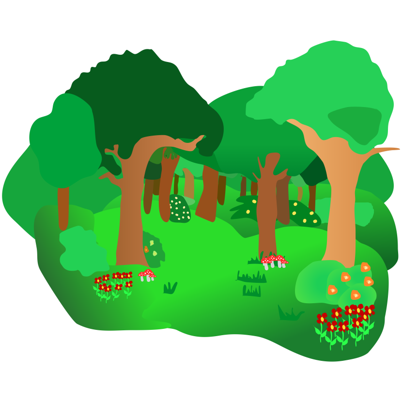 collection of forest. Wet clipart animated