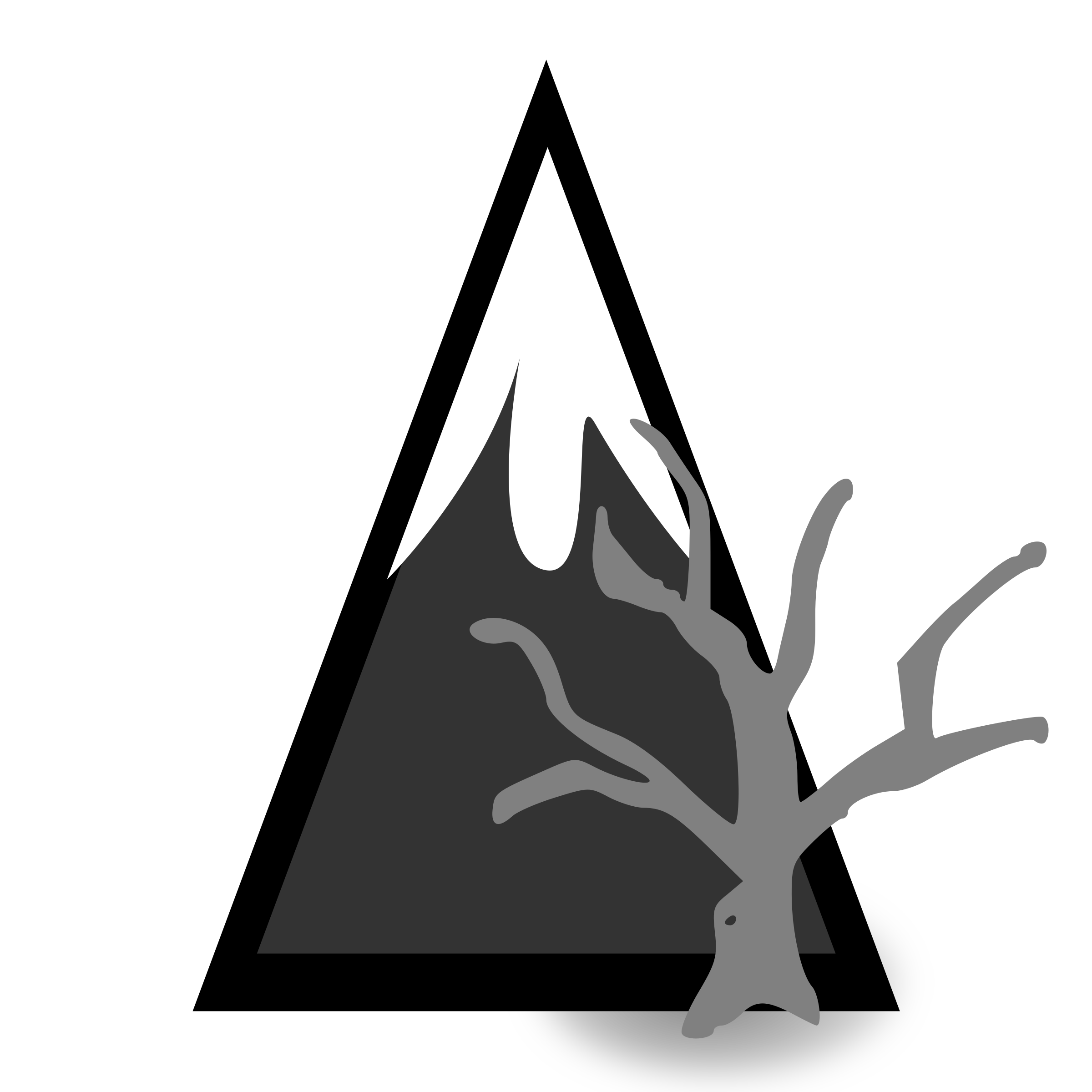 Forest mountain big image. Dead clipart logo