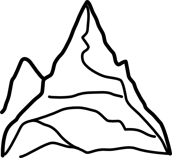Hills clipart mountain range. Chain of mountains clip