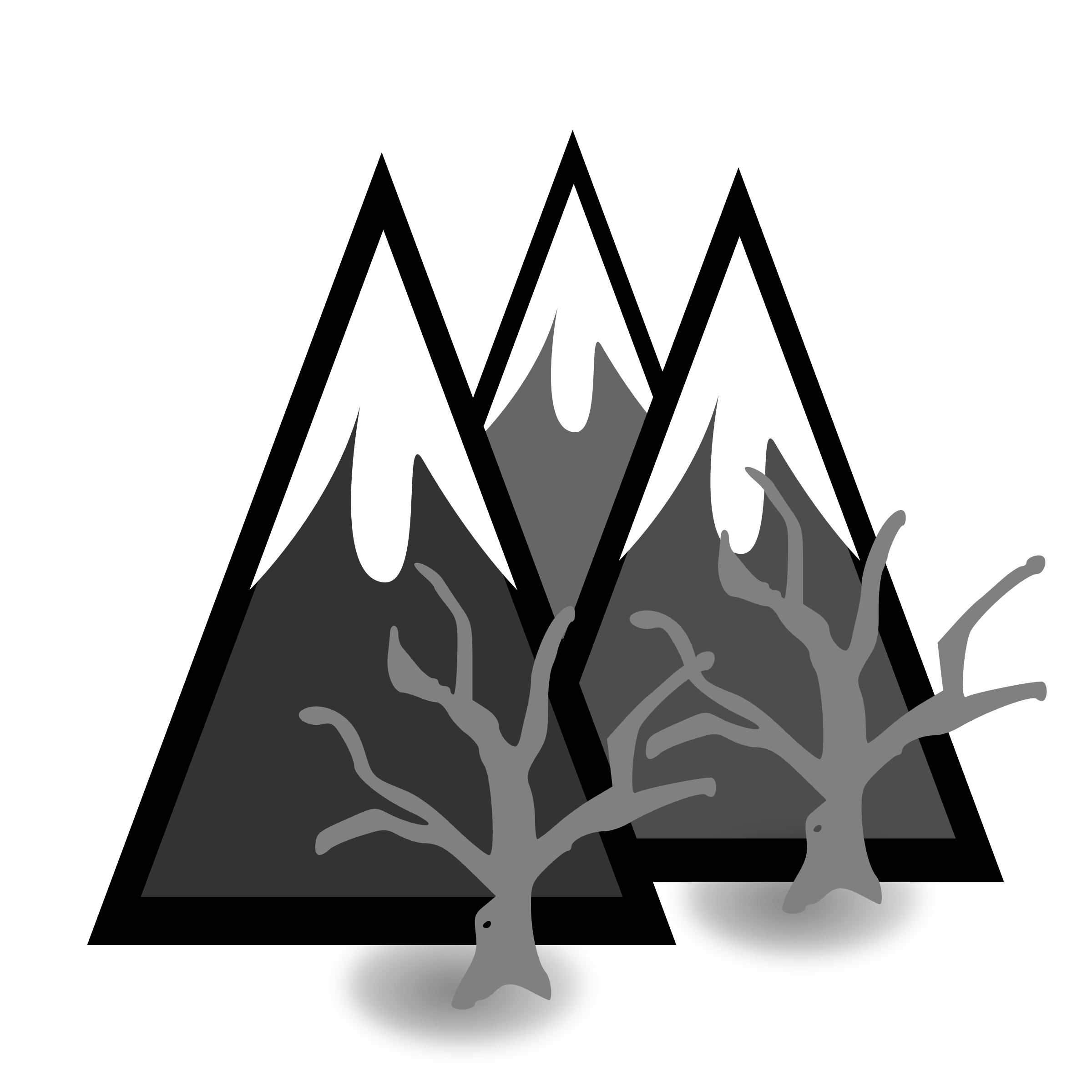 Clipart mountains black and white. Dead forest big image