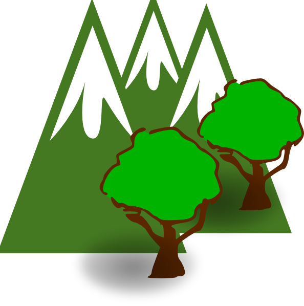 Clipart mountain spring. Forest clip art at