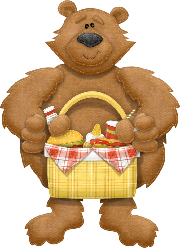 Bear basket png picnics. Picnic clipart forest