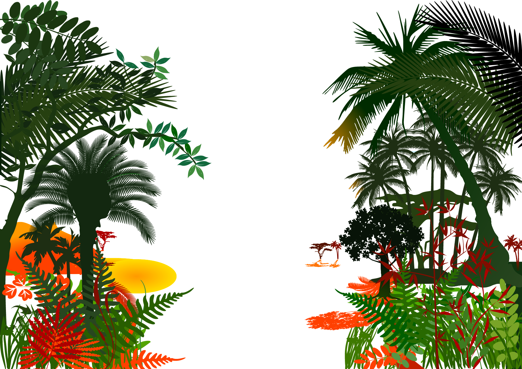 Rainforest Clipart Jungle Background Hd Rainforest Jungle