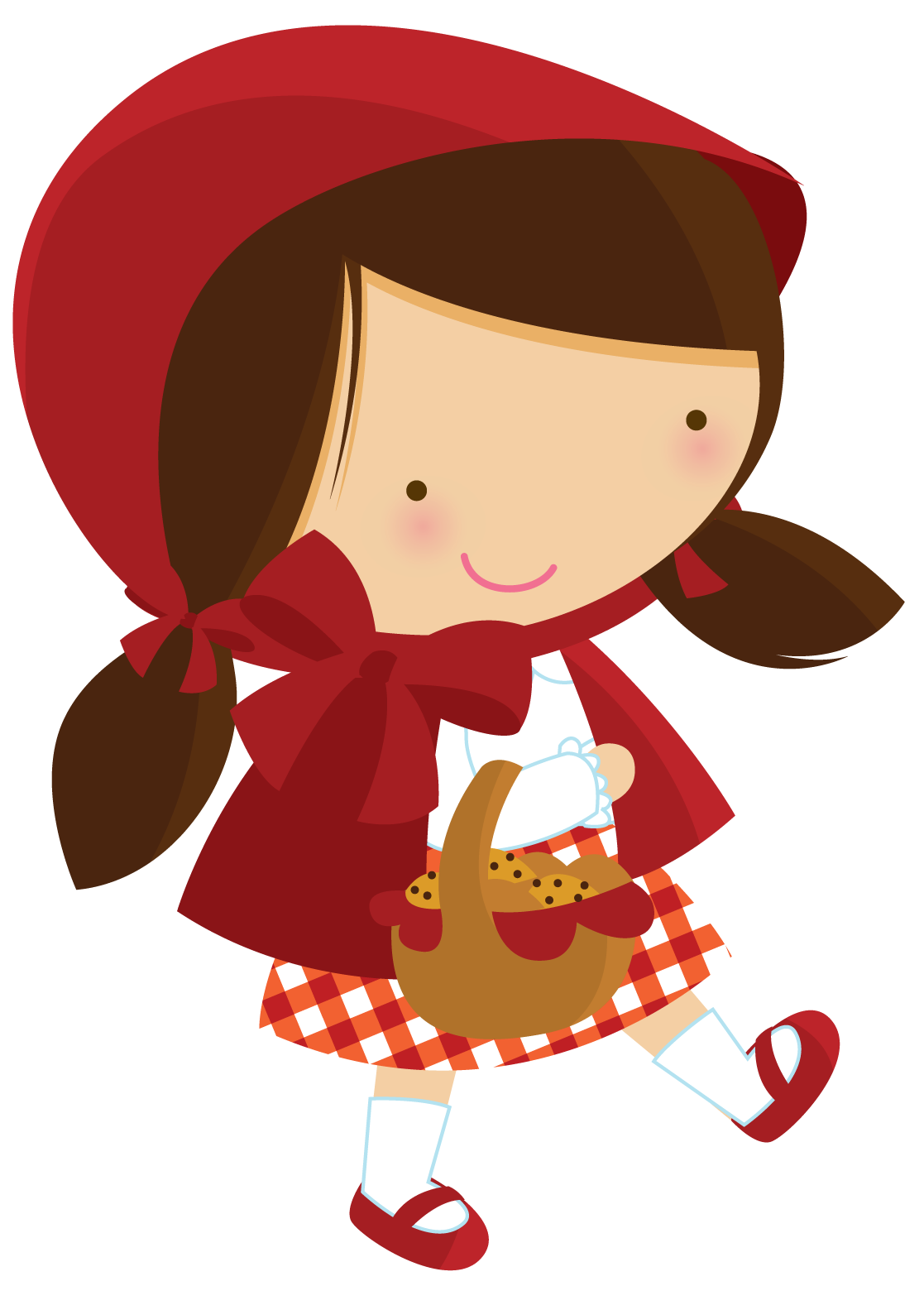 Fantoches para hist ria. Clipart forest red riding hood