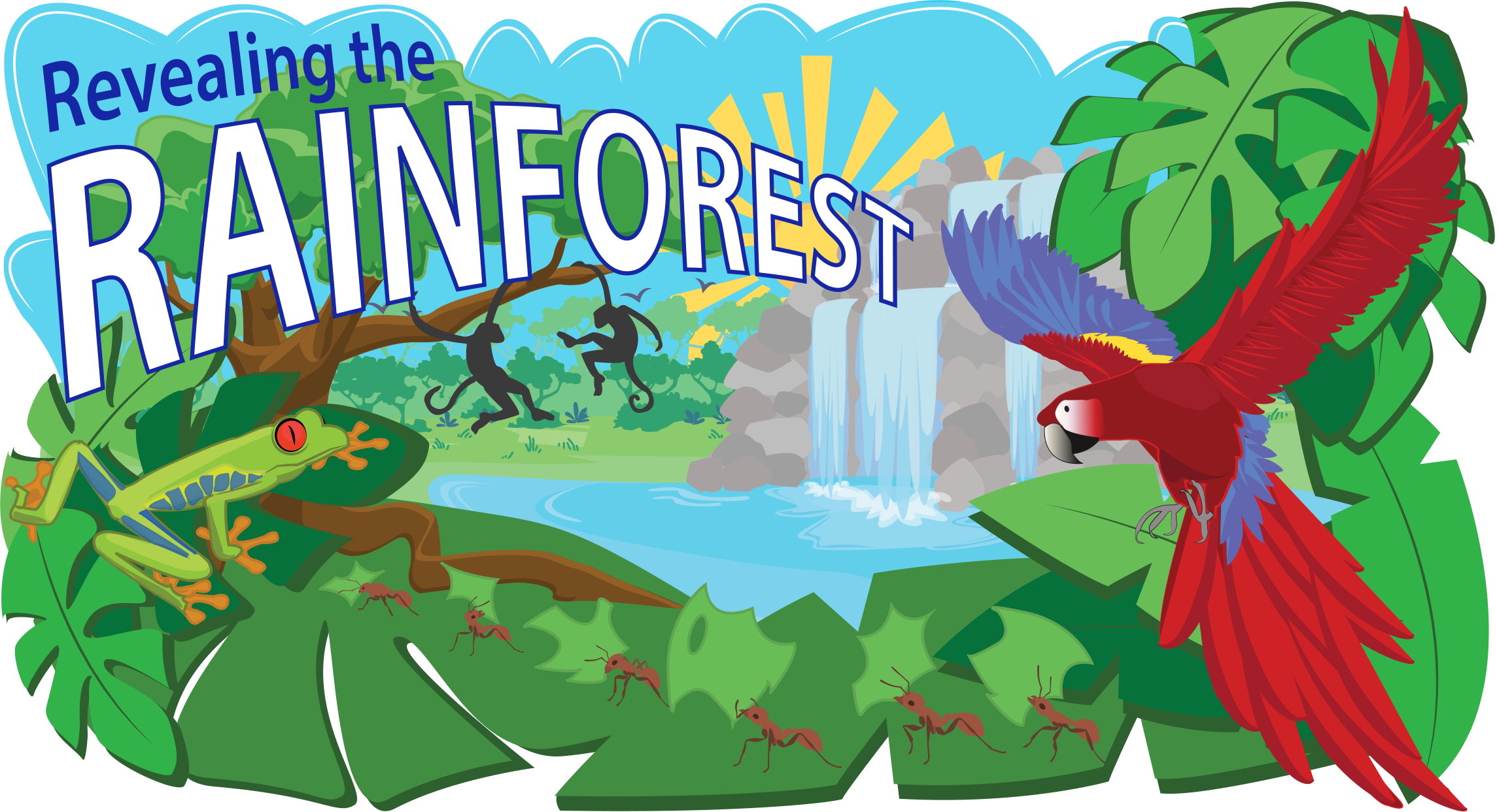 Tropical rainforest green forest. Teamwork clipart liberalism