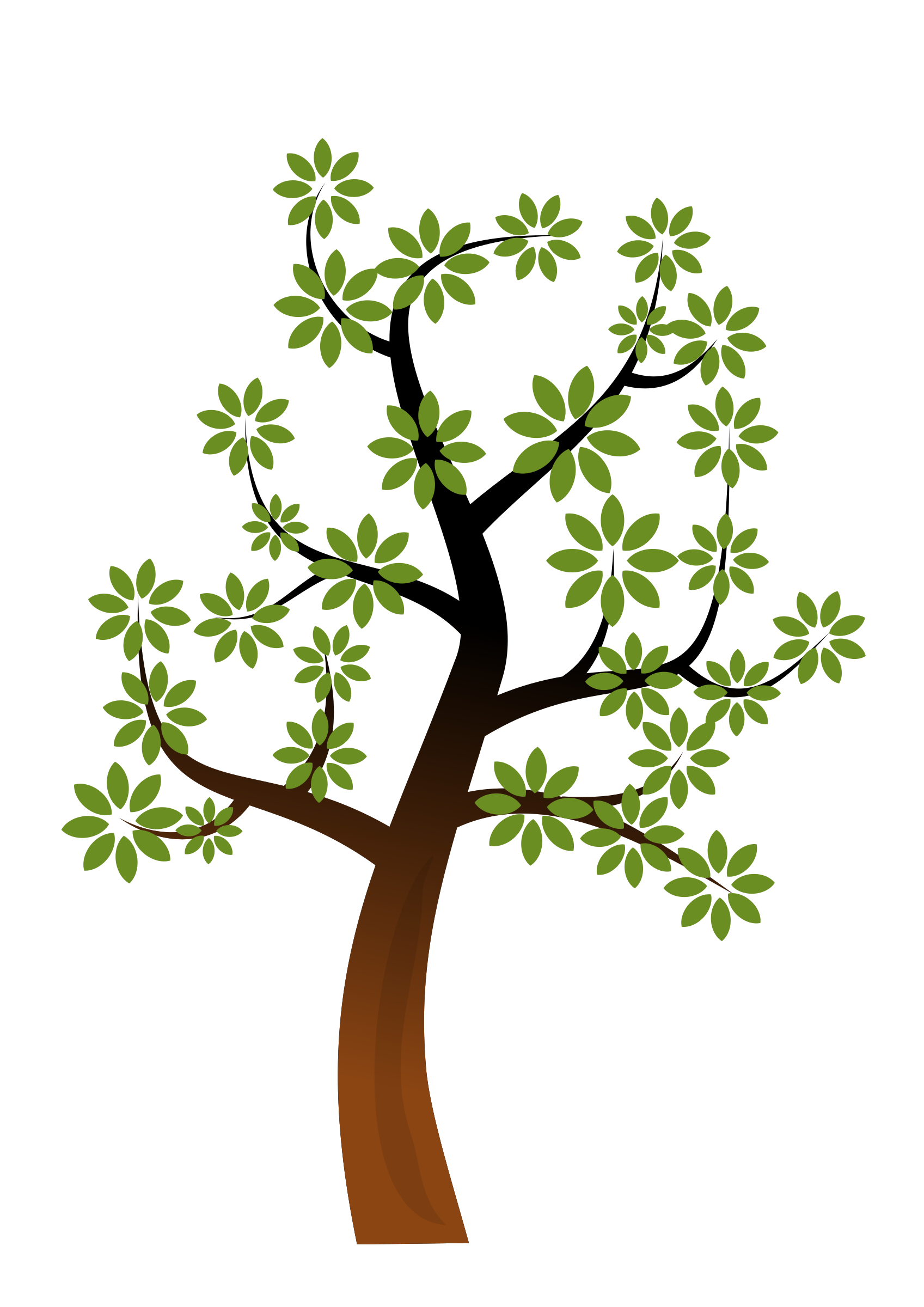 A tree big image. Clipart forest simple