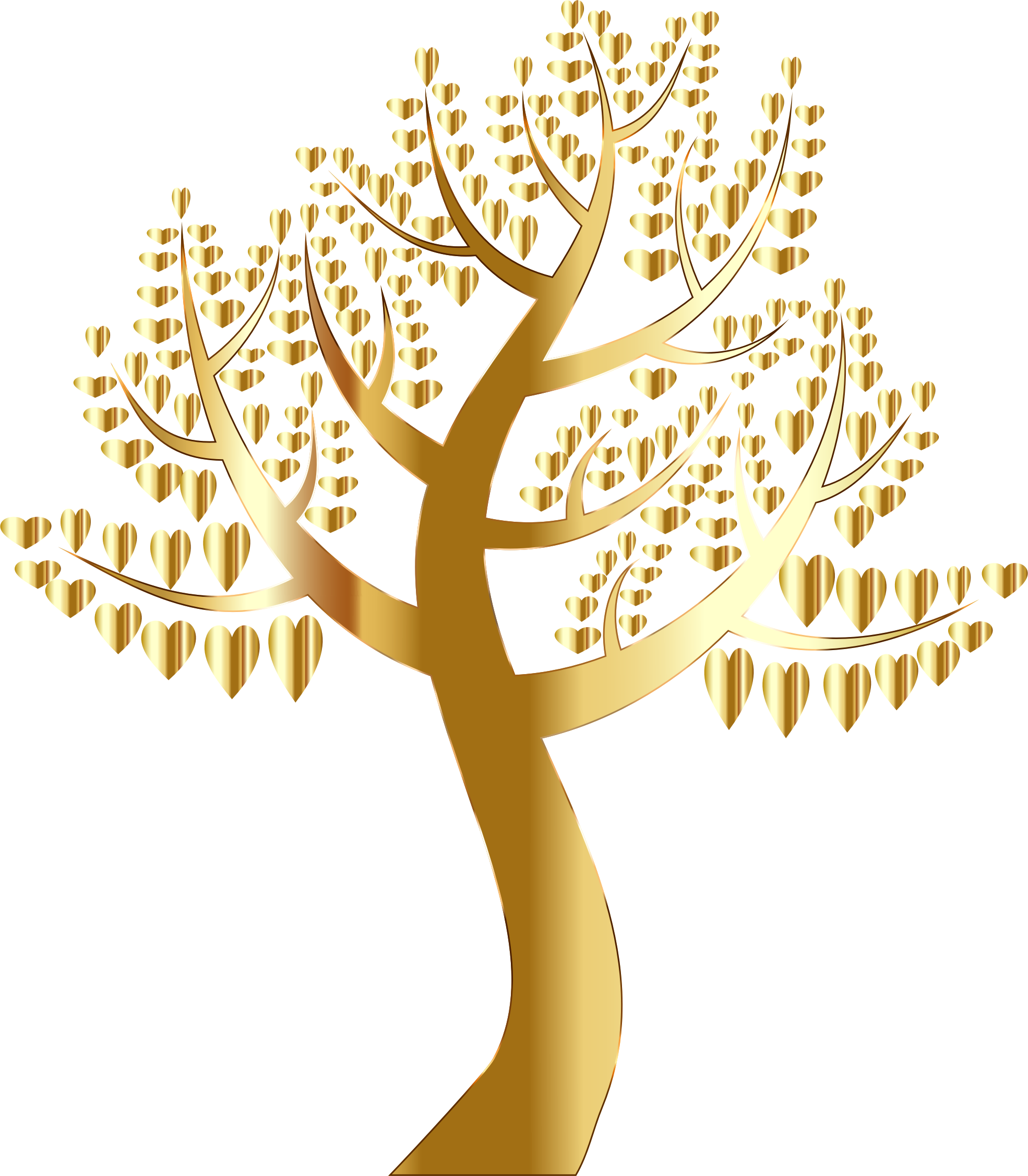 Hearts clipart tree. Simple no background big