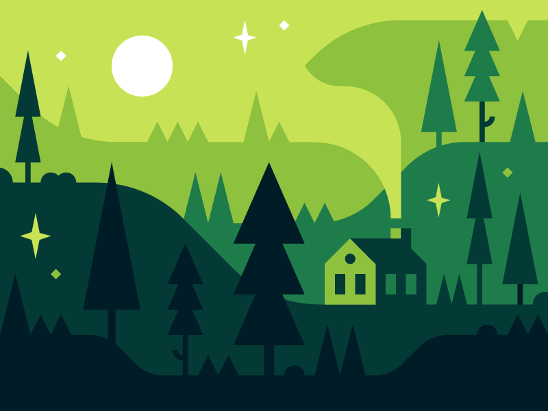 Clipart forest simple. Flat graphics icons and