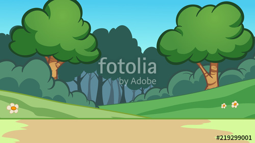 Cartoon background vector clip. Clipart forest simple