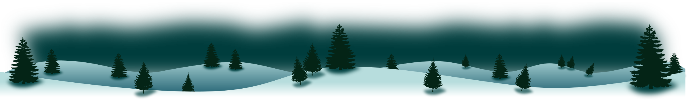 Panorama. Winter clipart forest