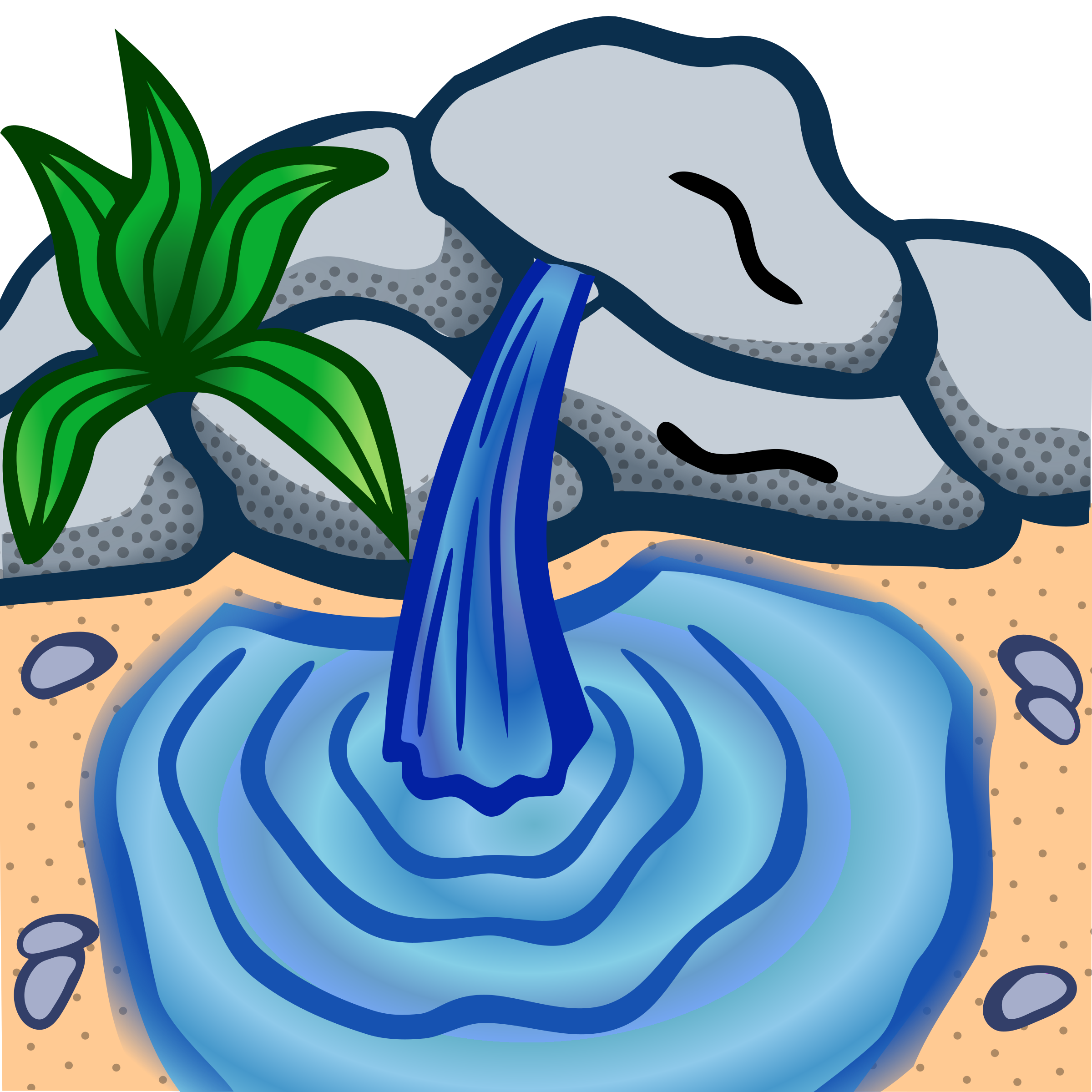 Water clipart fountain. Stream spring pencil and