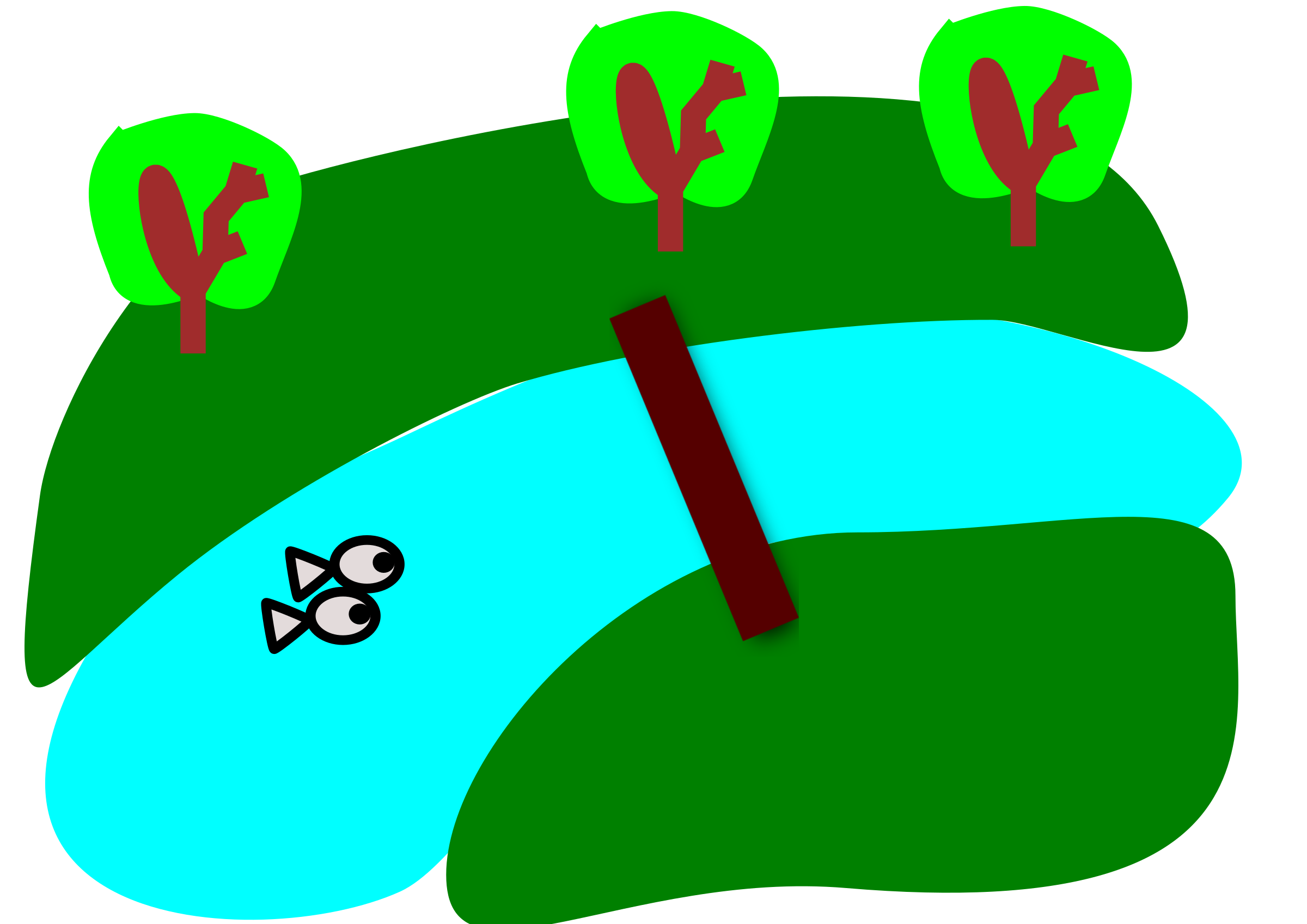collection of png. Clipart lake winding stream