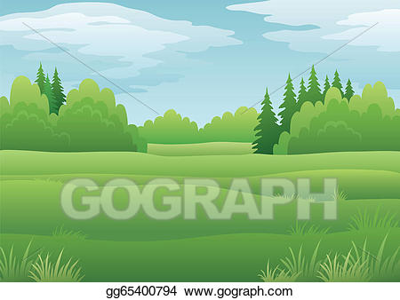 Clipart forest summer. Vector stock landscape