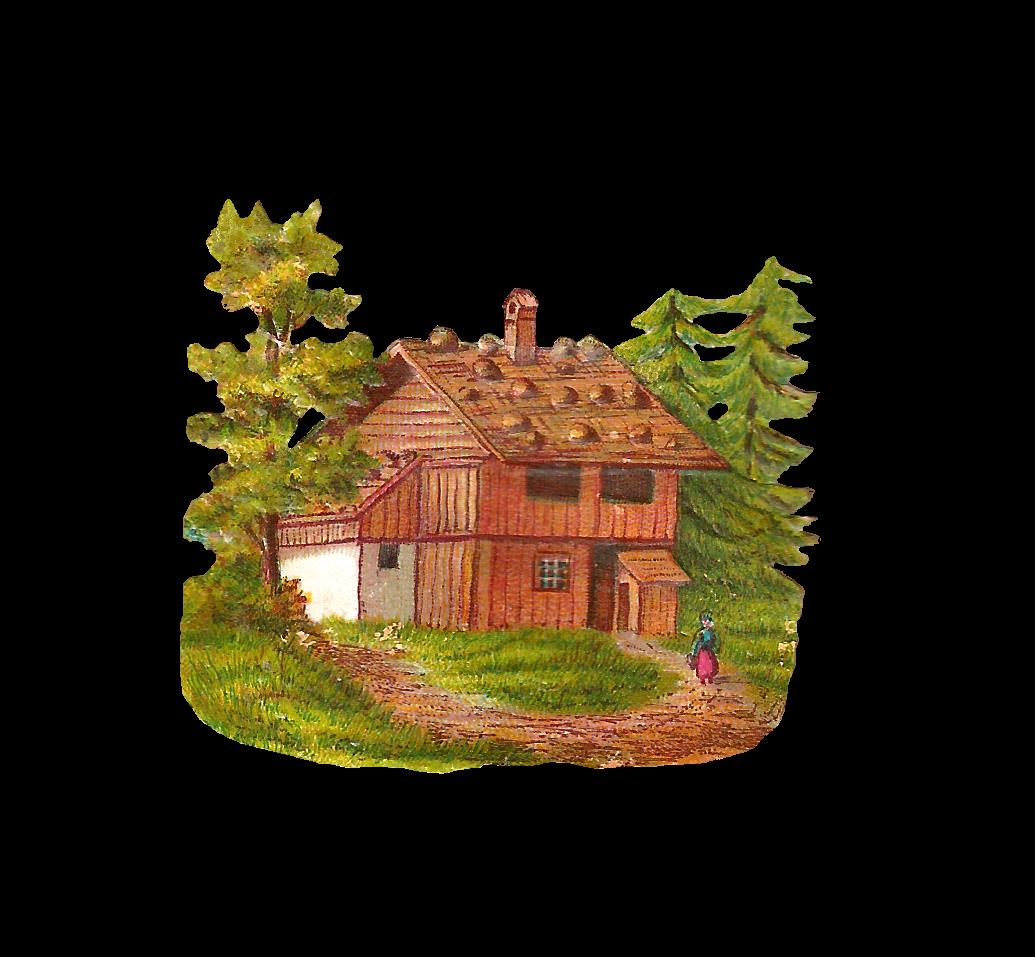 Antique images free clip. Cottage clipart house lot
