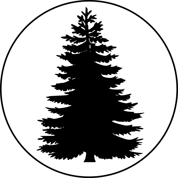 Tree clipart circle. In a large clip