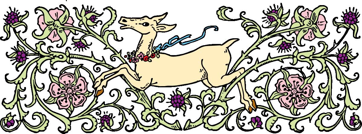 Free deer illustration oh. Clipart forest vintage