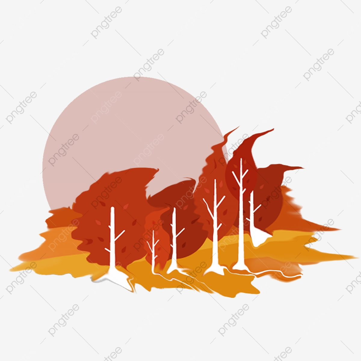 Windy clipart forest. Hand painted fall warm