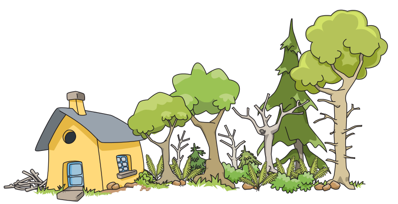 Trail clipart woods.  collection of house
