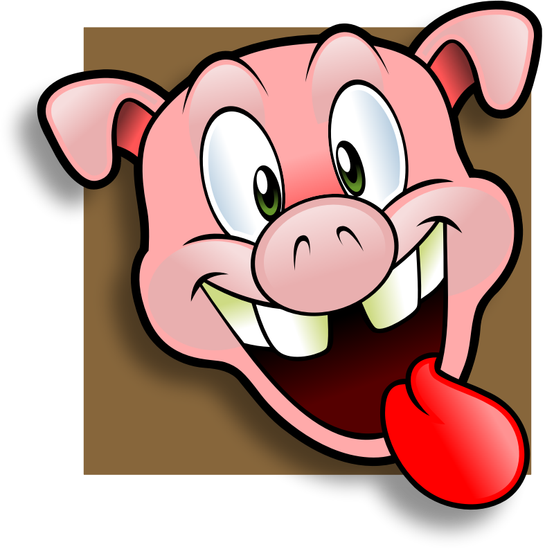 pig clipart angry