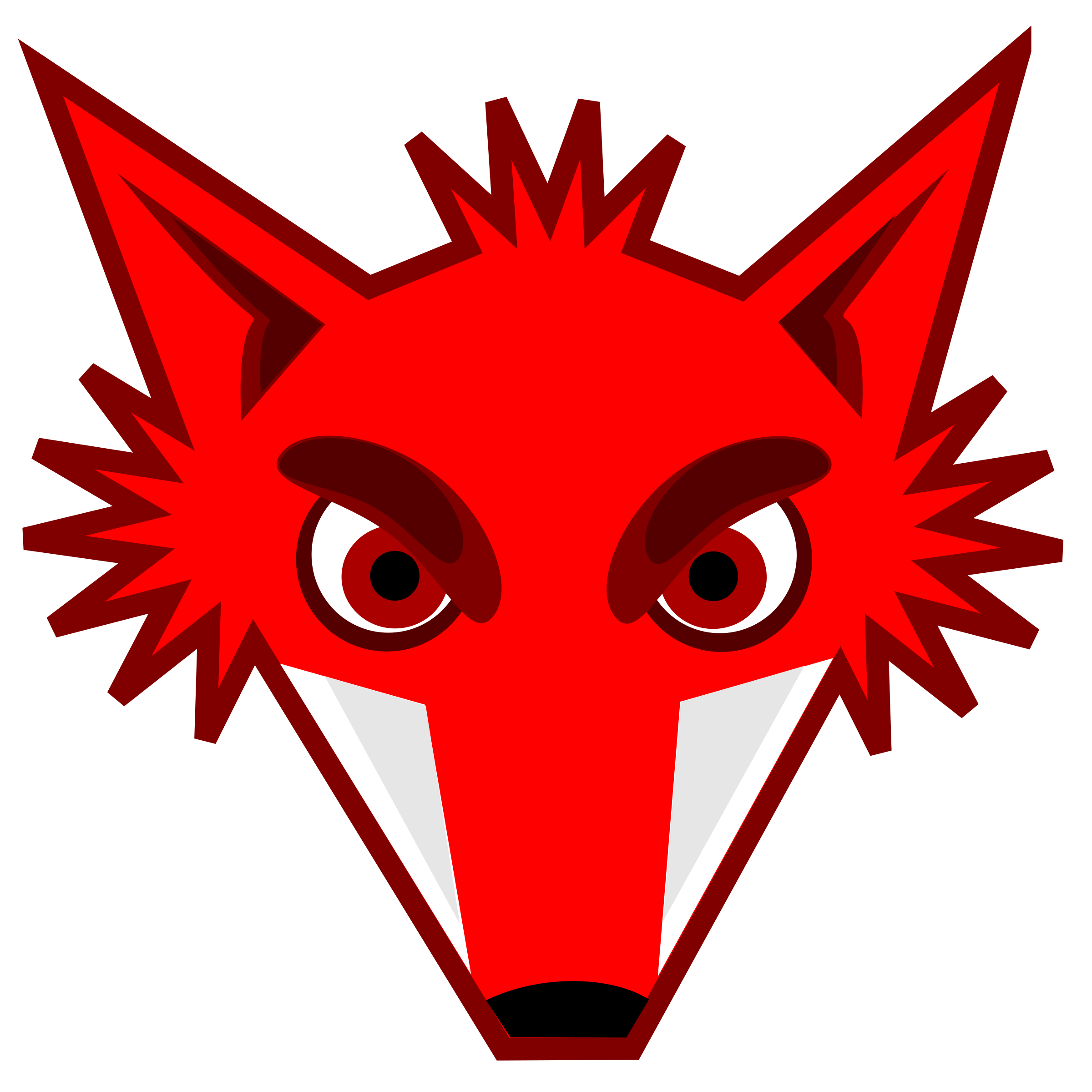 Fox clipart animated. Foxhead big image png