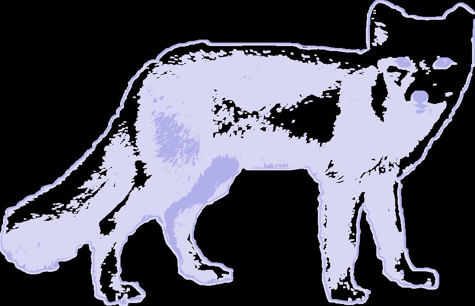Clipart fox arctic fox. Public domain clip art