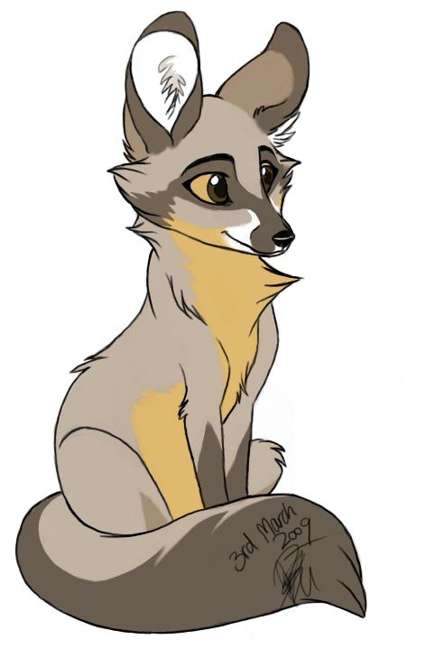 Fox clipart bat eared fox. By artistmaz on deviantart