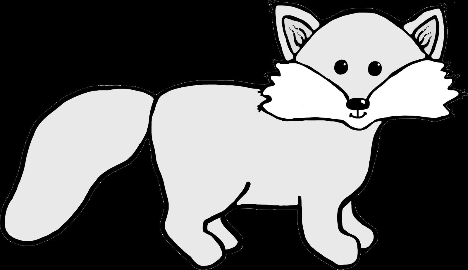 Fox clipart outline. Arctic clipartblack com animal