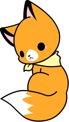 Kawaii cuteness in cute. Fox clipart chibi