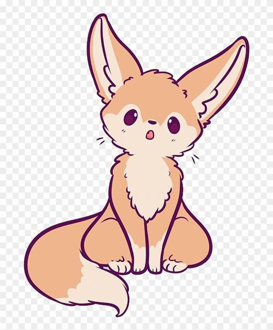 Fennecfox sticker drawing fennec. Fox clipart chibi
